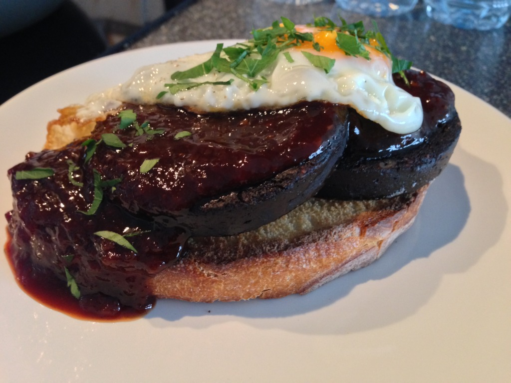 devilled black pudding