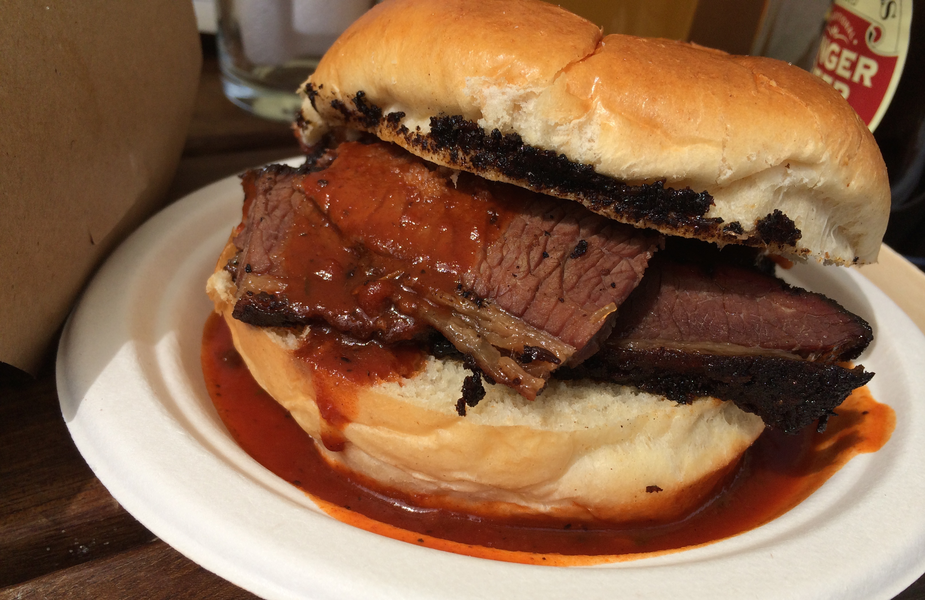the feathers inn brisket sandwich