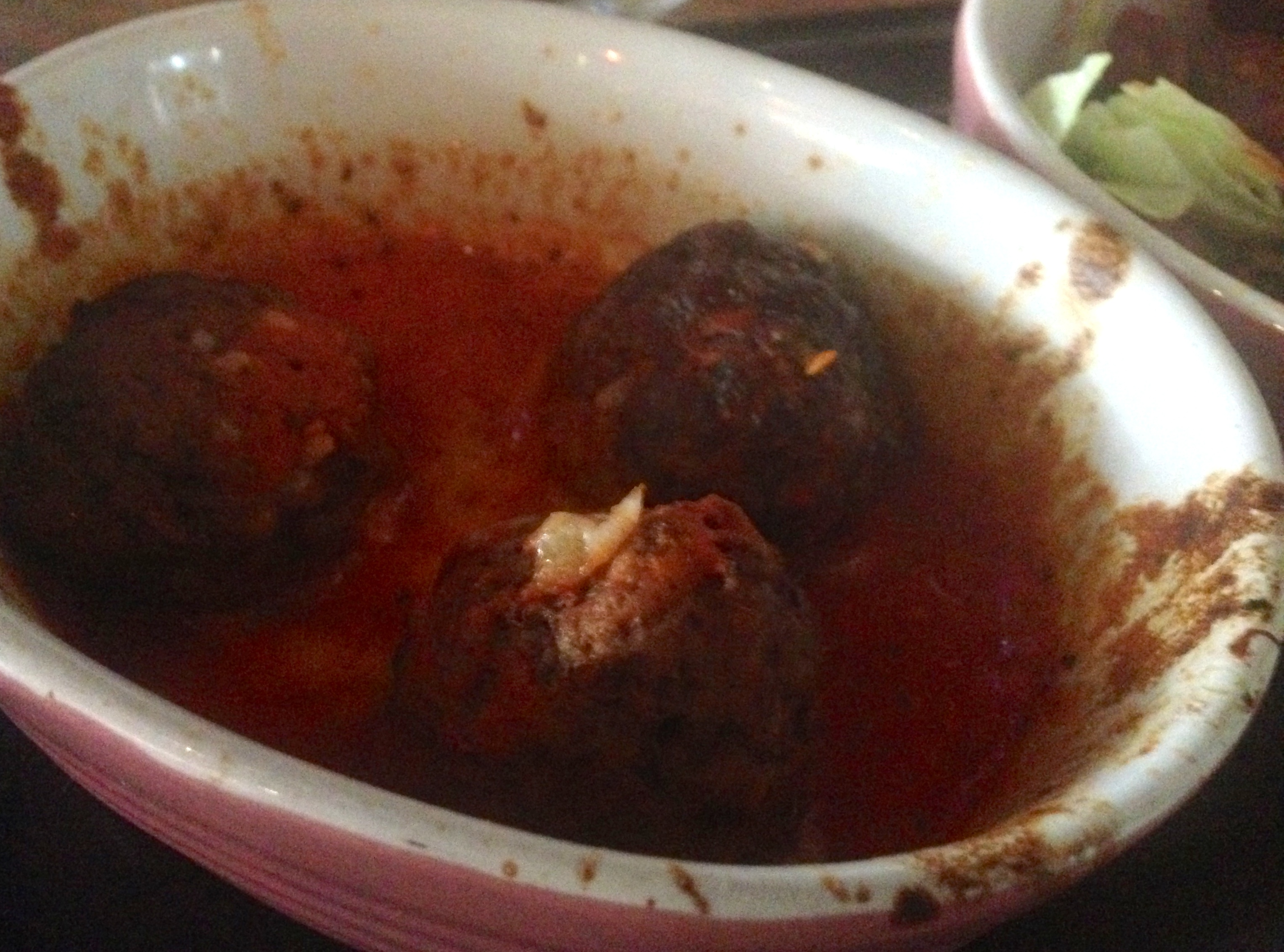 sad meatballs at salsa cafe