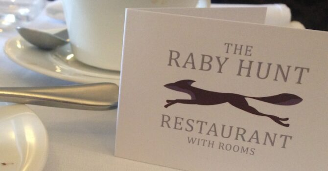 Lunch At The Raby Hunt, Summerhouse
