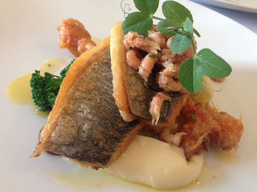 raby hunt sea bream caluiflower potted shrimp