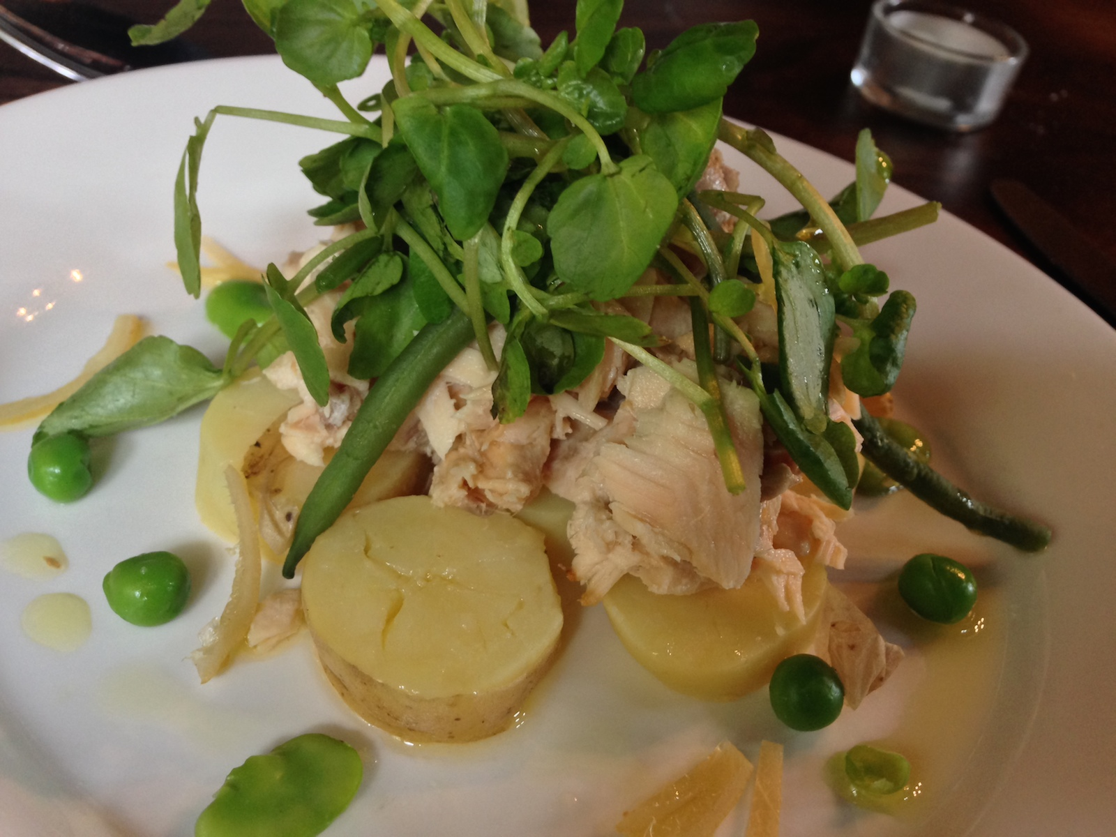 blackbird ponteland trout salad