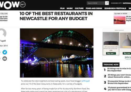 Wow247 Newcastle Eats Best Restaurants