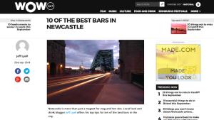 wow247 newcastle eats best bars