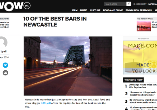 Wow247 Newcastle Eats Best Bars