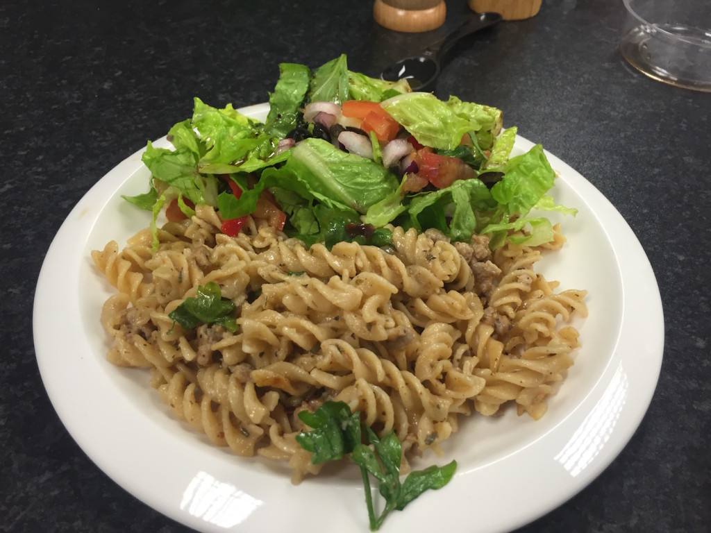 food nation week 4 sausage fusilli