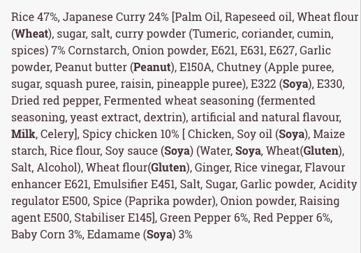 nudo sushi box ingredients