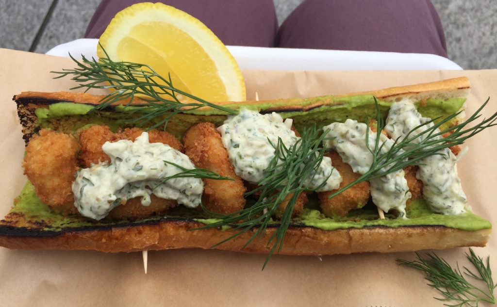 saltwater fish co monkfish pea sandwich