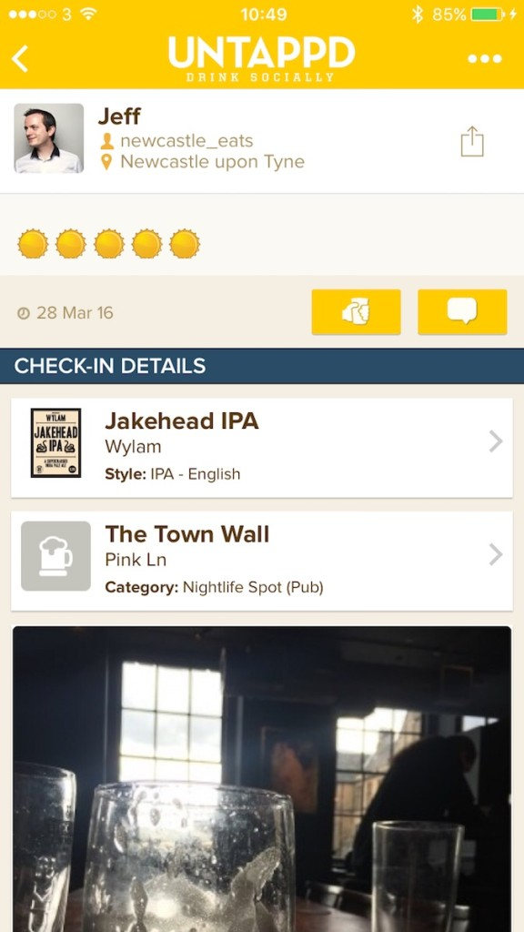 untappd newcastle eats
