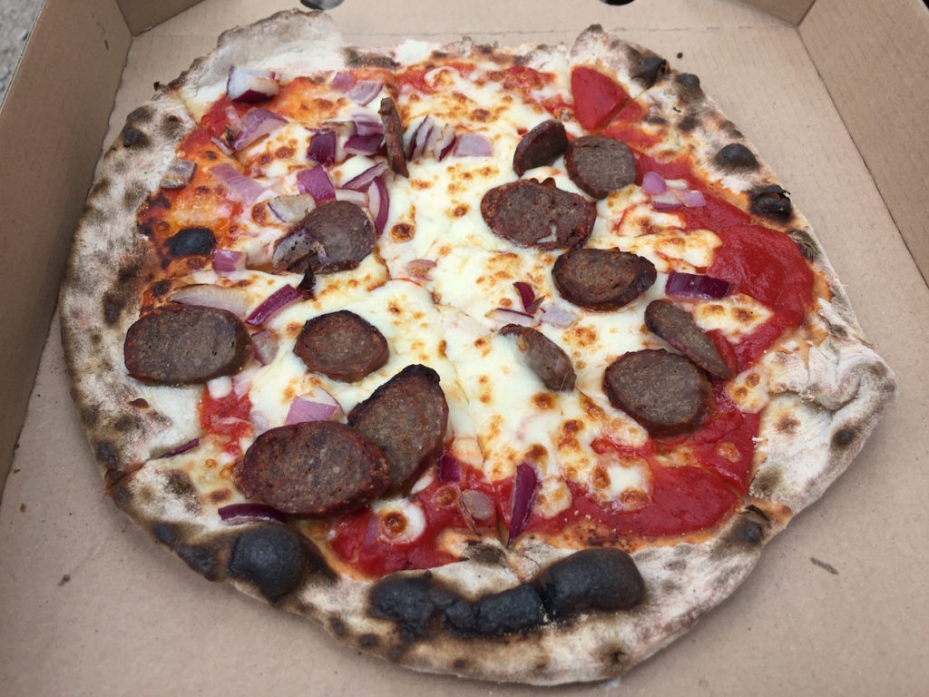 earth and fire pizza venison and red onion