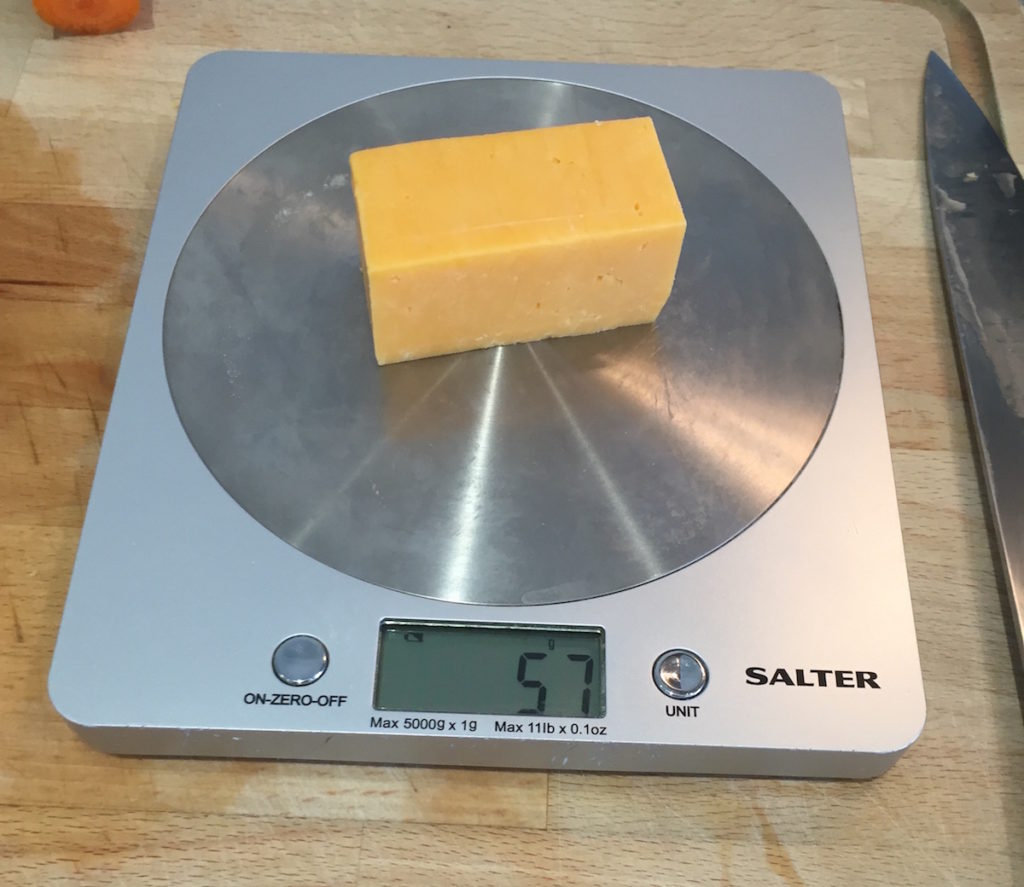 57g cheese ration