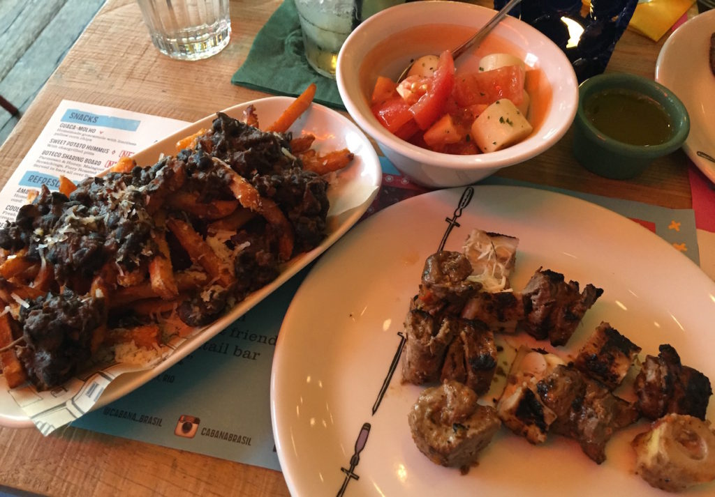 cabana feijoada and lamb
