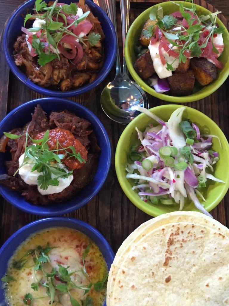 las iguanas taco sharing tray