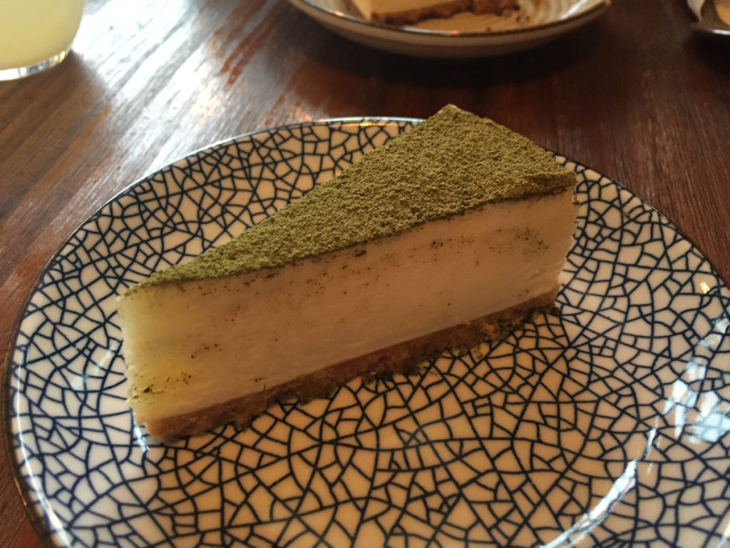 meet and treat newcastle matcha cheesecake