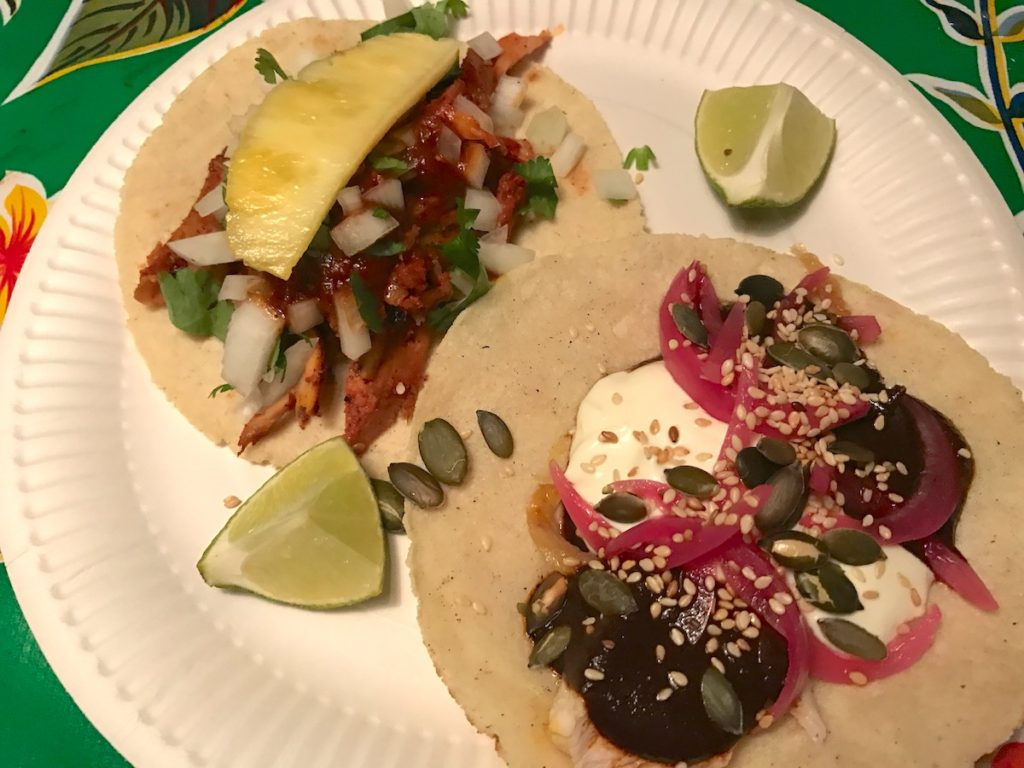 barrio comida mole chicken taco