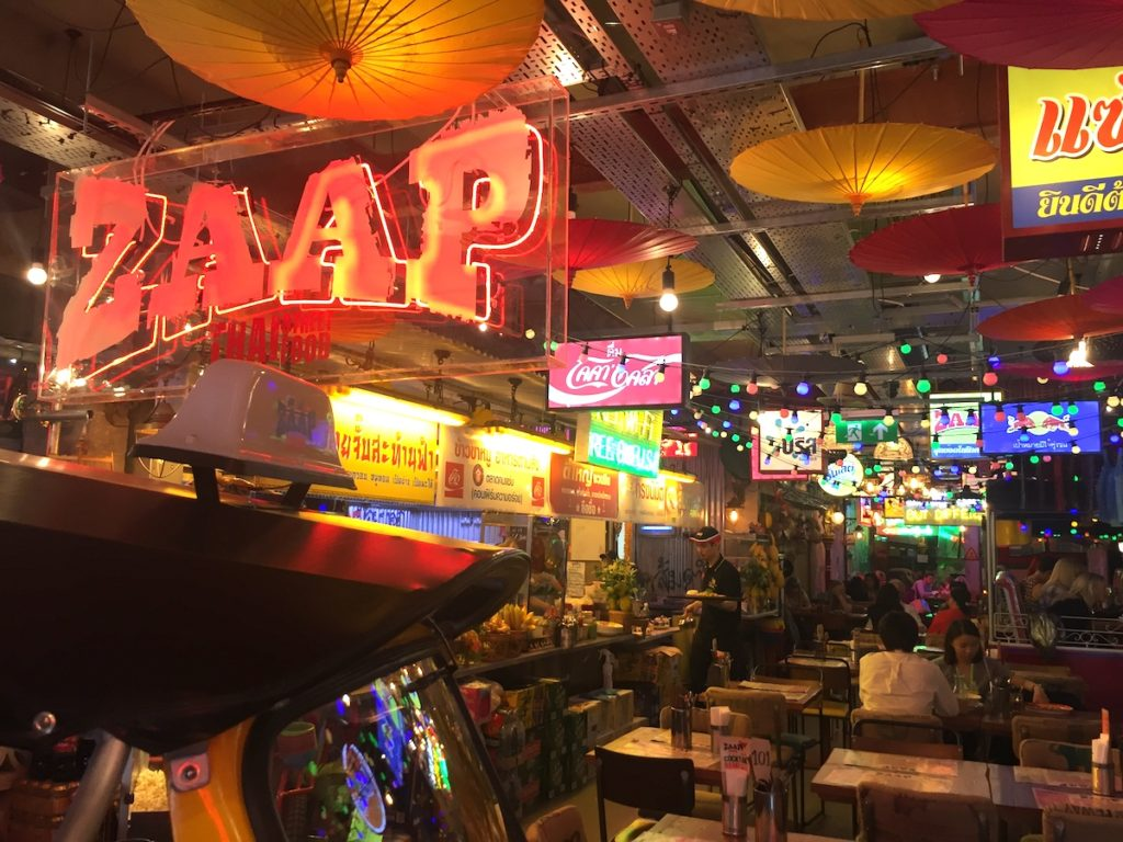 zaap thai newcastle interior
