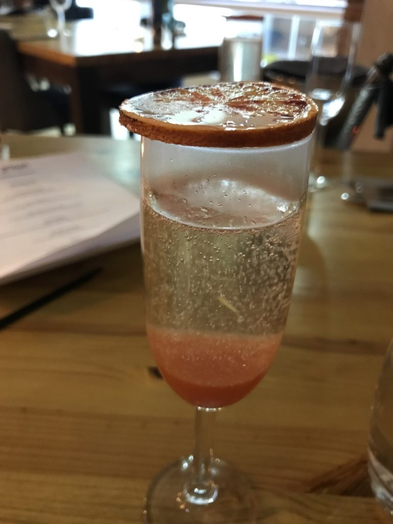 artisan newcastle blood orange bellini