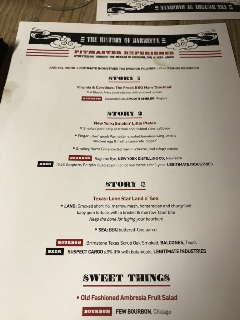 red pitmaster experience menu
